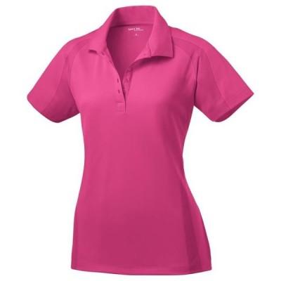 レディース 衣類 トップス Sport-Tek Women's Flat Knit Collar Wicking Polo Shirt_Pink Raspberry_XS ブラウス&シャツ