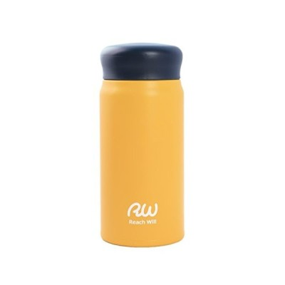 Reach Will魔法瓶 水筒350ml 軽量 真空2重構造ステンレスマグボトル 保温保冷 イエロー RAB-35MYE