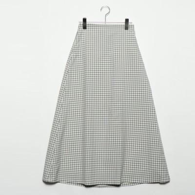 スタイルブロック STYLEBLOCK 先染めチェックロングスカート (ホワイト)