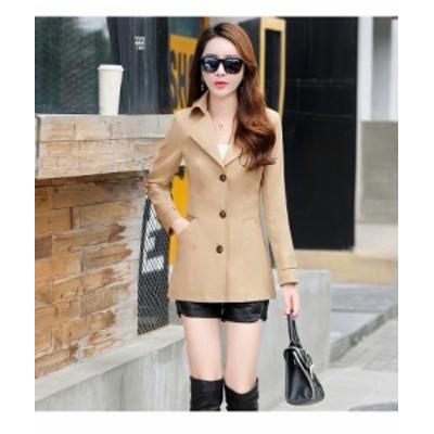トレンチコート コートジャケット レディース コート 大きいサイズ ジャケット アウター ショート丈 きれいめ 上品 春 スプリングコート