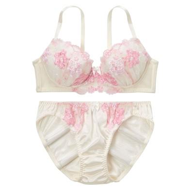 フラワーフェスティバルブラジャー・ショーツセット(C75/L) (ブラジャー&ショーツセット)Bras & Panties