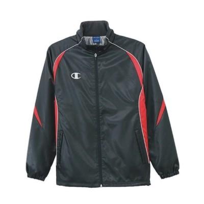 チャンピオン ウィンドブレーカージャケット C3LSC21 098 ブラック×レッド