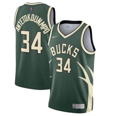 ヤニス・アデトクンボ NBA ユニフォーム バックス ナイキ 2020/21 アーンドエディション スウィングマンジャージ グリーン