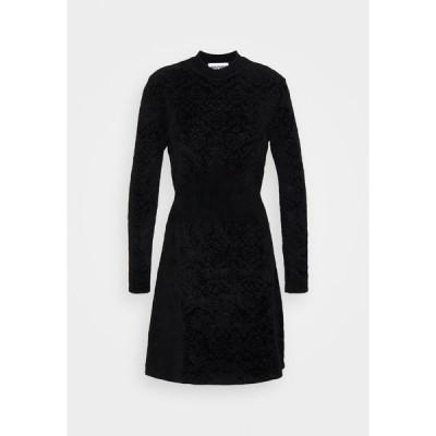 モスキーノ ワンピース レディース トップス DRESS - Shift dress - black