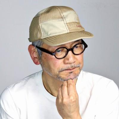 mila schon ダスティヘリンボン キャップ ミラショーン パッチワーク キャップ メンズ サイズ調整可 日本製 春夏 ベージュ