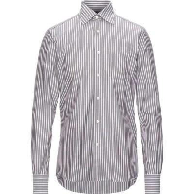 エルメネジルド ゼニア ERMENEGILDO ZEGNA メンズ シャツ トップス striped shirt Dark brown