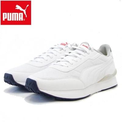PUMA プーマ R78 FUTR ディコン  374896 01 Puma White / Puma White (メンズ) ローカットシューズ ウォーキング ランニング メッシュ スニーカー
