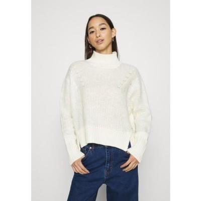 スコッチ&ソーダ レディース ファッション SOFT HIGH NECK PULLOVER - Jumper - icy white
