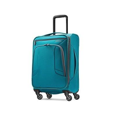 American Tourister 4キックス 拡張可能なソフトサイド荷物 スピナーホイール付き, ティール, Carry-On 21-Inch【