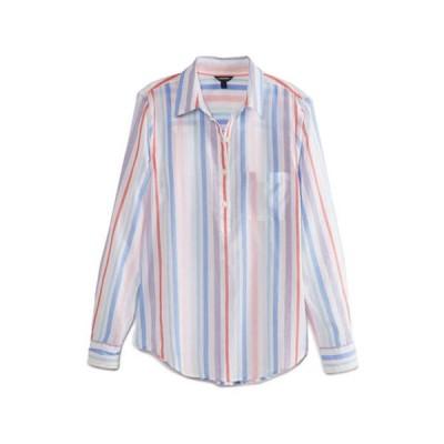 ナウティカ レディース シャツ トップス Women's Long Sleeve Multi Color Stripe Shirt