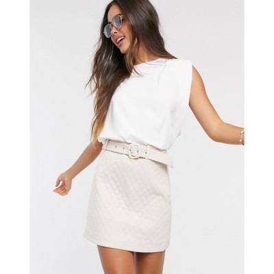 ファッションモンキー レディース スカート ボトムス Fashion Union quilted mini skirt