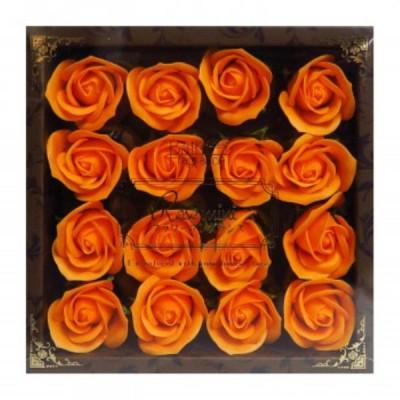 お花のカタチの入浴剤 ミニローズフレグランスM 16輪入り 771781