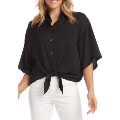 カレンケーン レディース シャツ トップス Women's Relaxed Tie-Front Shirt
