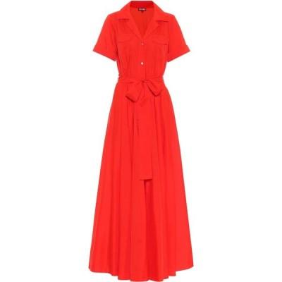 スタウド Staud レディース ワンピース シャツワンピース ワンピース・ドレス Millie midi shirt dress Red