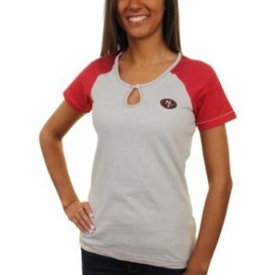 Antigua アンティグア スポーツ用品  Antigua San Francisco 49ers Womens Crush Raglan T-Shirt - Gray
