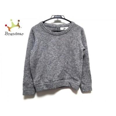 カオン kaon 長袖セーター サイズF レディース グレー 後リボン   スペシャル特価 20200106