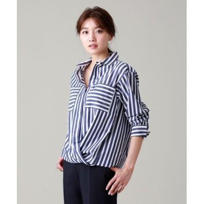 SANYO SELECT / 【ウォッシャブル】ディグ二ファイドストライプシャツ WOMEN トップス > シャツ/ブラウス