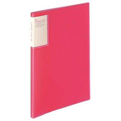 ラ-5001P クリヤーブック キャリーオールA4 ピンク 文具関連