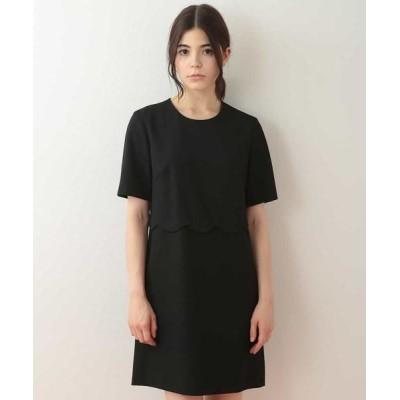TARA JARMON/タラジャーモン ウェーブデザインドレス ブラック 36