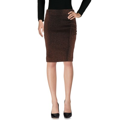 ピンコ PINKO ひざ丈スカート ブロンズ 42 コットン 55% / ナイロン 26% / ポリエステル 19% ひざ丈スカート