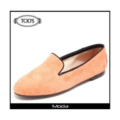 トッズ 靴 レディース TODS 靴 オレンジ スウェード オペラシューズ
