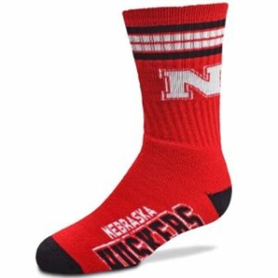 For Bare Feet フォー ベア フィート スポーツ用品  For Bare Feet Nebraska Cornhuskers Youth 4-Stripe Deuce Quarter-Length Socks