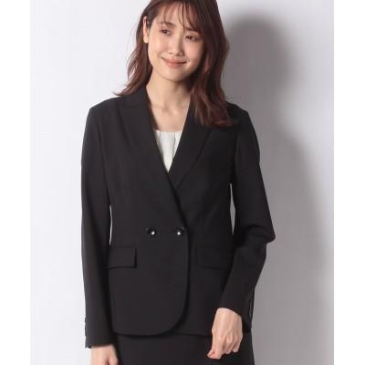 【ニューヨーカー】 モヘヤ混 ダブルデザインジャケット レディース ブラック 11 NEWYORKER