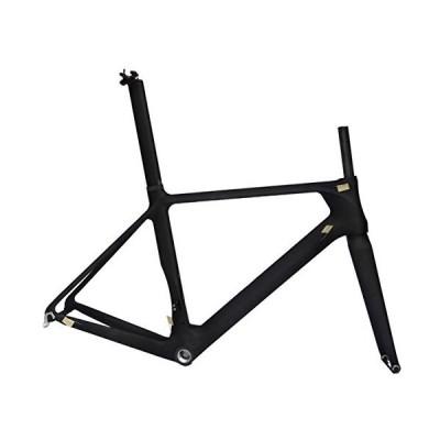 (新品) x-goods Full Carbon Matt 700c Road Bike Cycling BB30 Frame Fork Seatpost Clamp 50cm