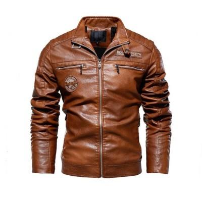 2色 メンズレザージャケット  ライダース   バイクウエア   バイクジャケット 皮ジャン  革ジャン  カジュアル 防寒    お兄系   個性 細身