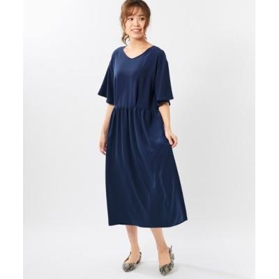 【大きいサイズ】 モニターさんと作ったワンピース フィット&フレアーライン(オトナスマイル) ワンピース, plus size dress