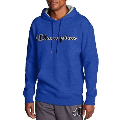 チャンピオン Champion メンズ パーカー トップス Powerblend Fleece Chainstitch Outline Script Logo Hoodie Surf The Web