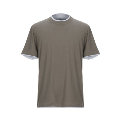 ブルネロ クチネリ BRUNELLO CUCINELLI T シャツ ダークグリーン M コットン 100% T シャツ