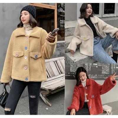 ボアブルゾン ジャケット レディース おしゃれ 冬 コート 10代 20代 もこもこ 韓国 大きいサイズ 高校生 中学生 アウター ジャケット ジャンバー あったか 2789