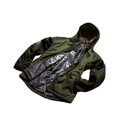 マック(Makku) ジャケット 中綿ジャケット メンズ レディース 防水 防寒 アーミーグリーン LLサイズ AS-3720