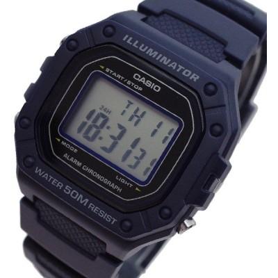 カシオ CASIO 腕時計 メンズ W-218H-2AV クォーツ ブラック ダークパープル