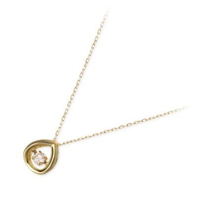 ゴールド ネックレス 揺れる ダイヤモンド 彼女 誕生日プレゼント 記念日 ギフトラッピング レディース
