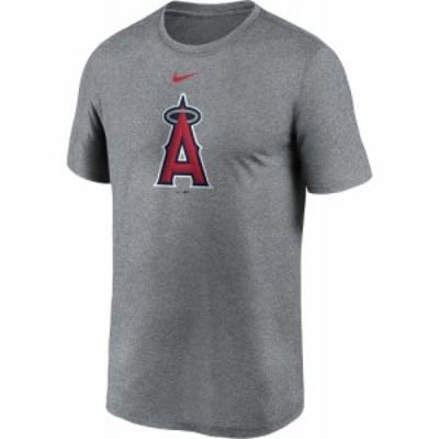 ナイキ Nike メンズ Tシャツ トップス Los Angeles Angels Grey Large Logo Legend T-Shirt