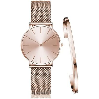 レディース 腕時計 おしゃれ クラシック シンプル 女性 時計 ビジネス 日本製クオーツ バングル ブレスレット watch for women