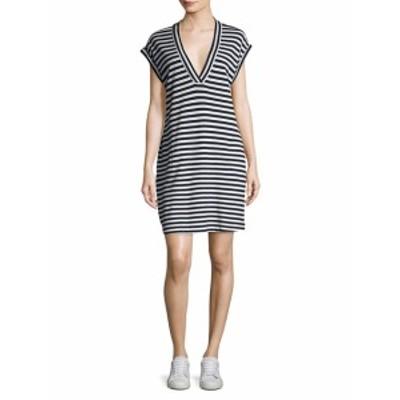 ATM アンソニートーマスメリーリョ レディース ワンピース Striped Extended Shoulder Shift Dress