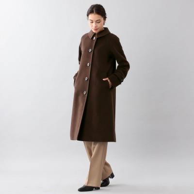 サンヨーコート SANYOCOAT <Rain Wool>ウールカシミヤバルマカーンコート (ブラウン)