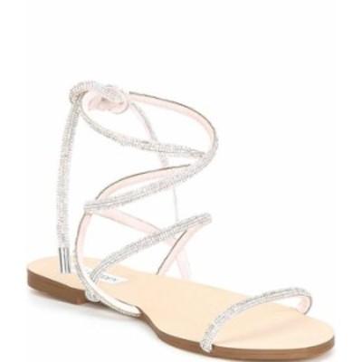 スティーブ マデン レディース サンダル シューズ Twirl-R Rhinestone Embellished Ankle Wrap Sandals Rhinestone
