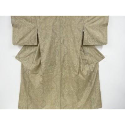 リサイクル 花更紗模様織り出し本場大島紬着物