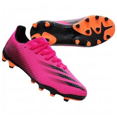 ジュニア エックス ゴースト.3 HG/AG J ショックピンク×コアブラック 【adidas|アディダス】サッカージュニアスパイクfy1093
