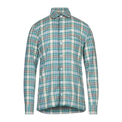 ガブリエレ パジーニ GABRIELE PASINI シャツ グリーン 41 コットン 99% / ポリウレタン 1% シャツ