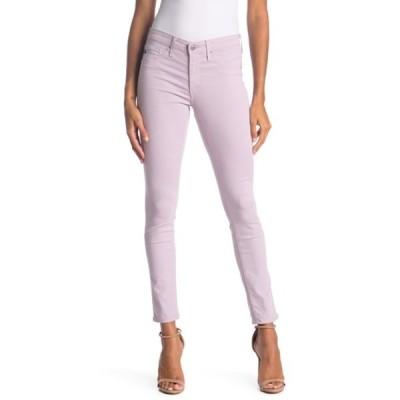 エージー レディース デニムパンツ ボトムス Legging Super Skinny Faux Leather Ankle Jeans PURPLE HAZE