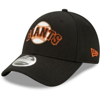 ユニセックス スポーツリーグ メジャーリーグ San Francisco Giants New Era Clubhouse 9FORTY Adjustable Snapback Hat - Black - OSFA