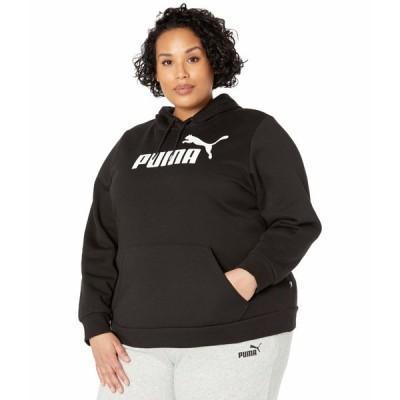 プーマ パーカー・スウェットシャツ アウター レディース Plus Size Essential Logo Hoodie Cotton Black