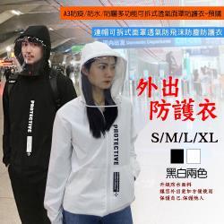 A3防疫/防水/防曬多功能可拆式透氣面罩防護衣-預購