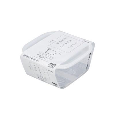 保存容器 楽ちんパック スクエア(630mL) クリアホワイト(1個入)/ イノマタ化学