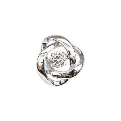 ブローチ メンズ ダンシングストーン タイニーピン 一粒 ダイヤモンド 0.20ct k18 ホワイトゴールド トゥインクルセッティング プレゼント ギフト 人気